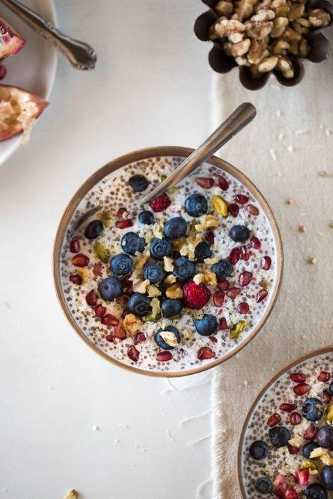 Overnight Coconut Buckwheat Porridge I foolproofliving.com #BuckwheatRecipes-Mushrooms