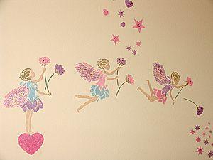 Комната для маленькой феи 2 :: пример декора трафаретом :: для декора стен
