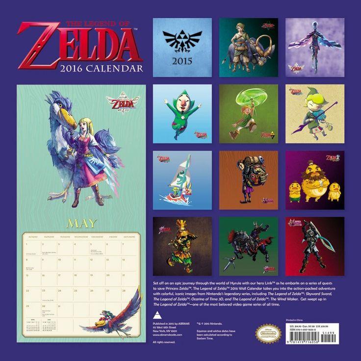 The Legend of Zelda 2016 Wall Calendar Open for Pre-Orders