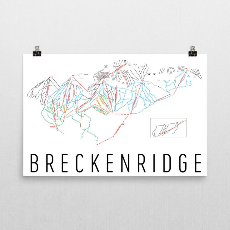 Breckenridge Ski Map Art, Trail Map, Print, Poster From $39.99 - ModernMapArt