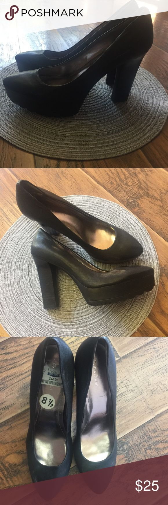 New high heels shoes by Calvin Klein Black high heels shoes by Calvin Klein Calvin Klein Shoes Heels