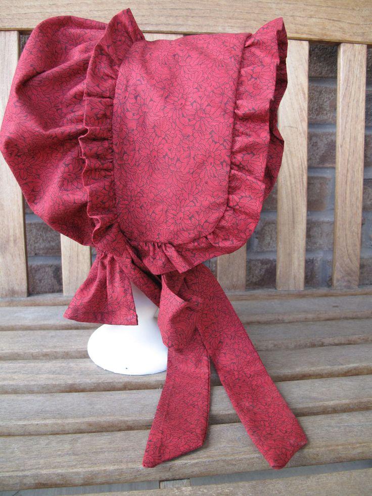 Custom pioneer bonnet by CuteMormonStuff on Etsy