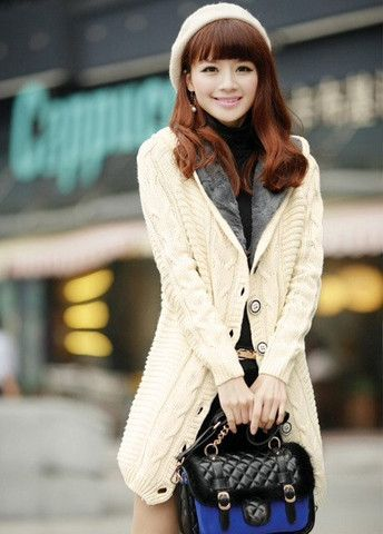 Casual Long Pattern Cardigans with Single Breasted – teeteecee - fashion in style