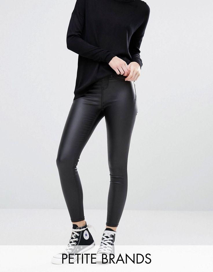 New Look Petite Coated Super Skinny Jean - Black