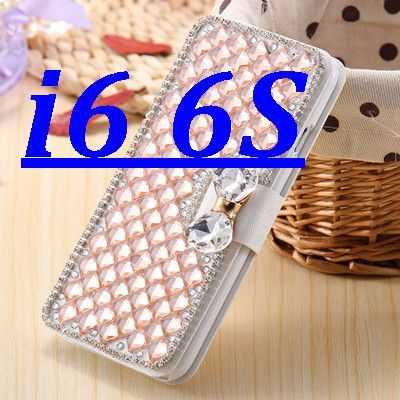 i6 /6S/ Plus Deluxe Silk Skin Diamond Wallet Stand Leather Cases for Apple iPhone 6 /6S /6S Plus /6S Plus Cover With Card Slot