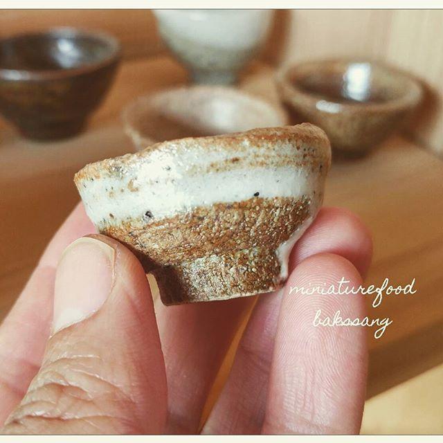 옆 공방 선생님 작품. 소지는 뒷산에 흙.  #도자기#막사발#미니어쳐#도예#pottery #ceramics