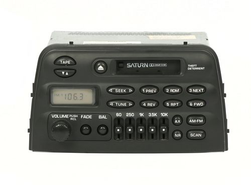 Saturn S Series 96-99 Radio AM FM Cassette w Equalizer Controls 21011998 UP6 UU6