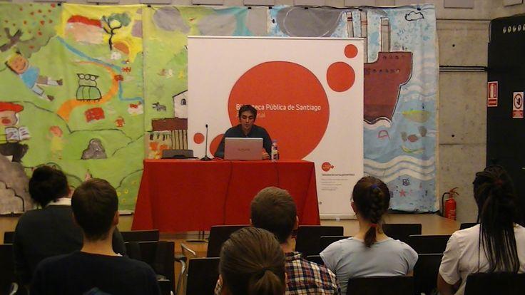 Conferencia de Brais Arribas na Biblioteca Ánxel Casal (Santiago de Compostela, 20-X-2016).