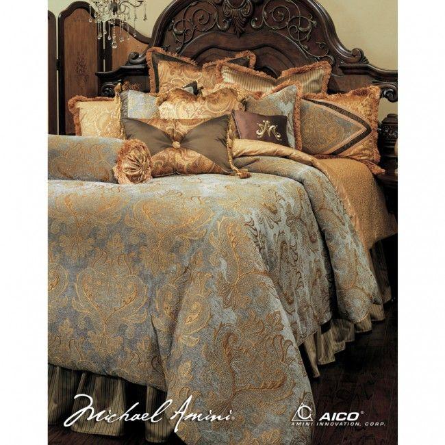 AICO Elizabeth King Size Comforter Bedding Set (13pc)