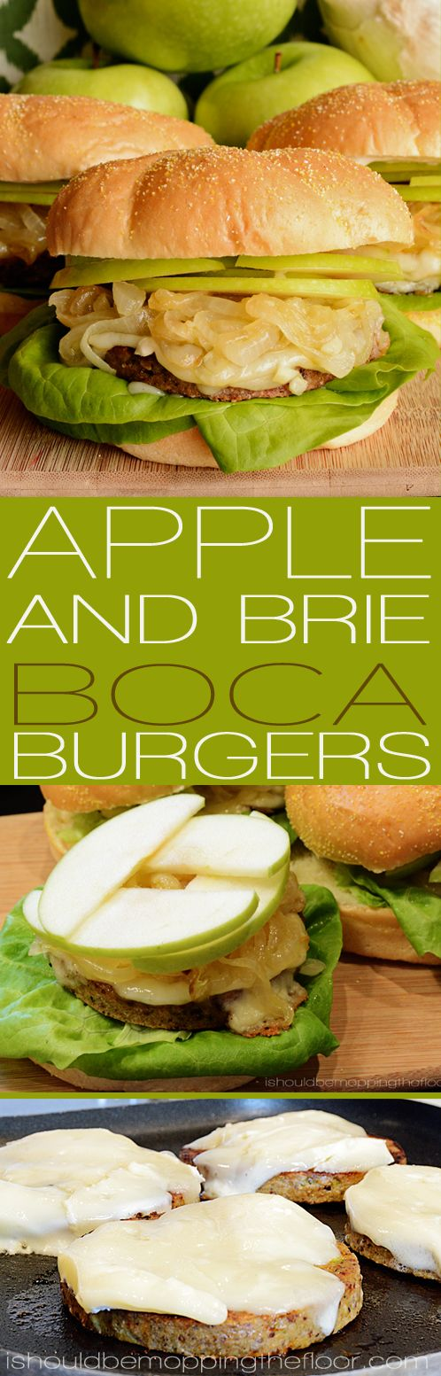 Green Apple and Brie Boca Burgers Recipe #bocaessentials #CleverGirls #ad