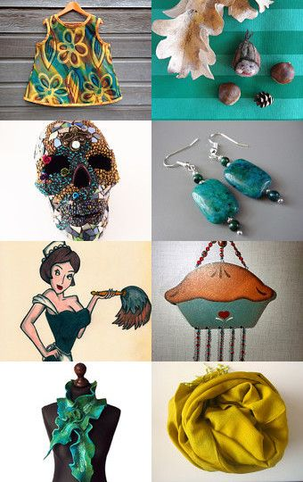 Autumn teals by Julie Pauly on Etsy--Pinned with TreasuryPin.com