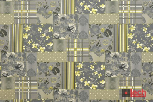 szarość w patchworkowym stylu. Kolejna odsłona kolekcji VIORICA  #upholstery #fabrics #lechmodernfabrics #patchwork