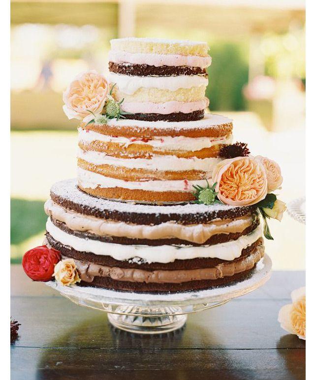 16 Amazing Naked Cakes..we ♥ this! moncheribridals.com #cake #wedding