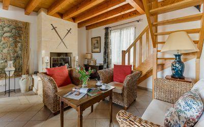 Salon des chambres d'hôtes à vendre à Vitrac près de Sarlat en Périgord