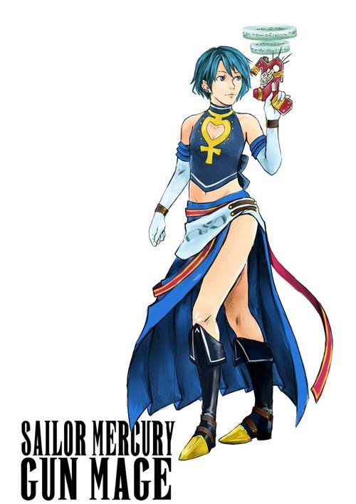 Sailor Moon Final Fantasy Fan Art