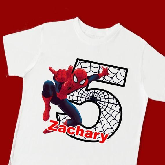 Spider Birthday Shirt Boys SpiderMan Shirt Personalized Birthday Shirt Boys Spider Shirt