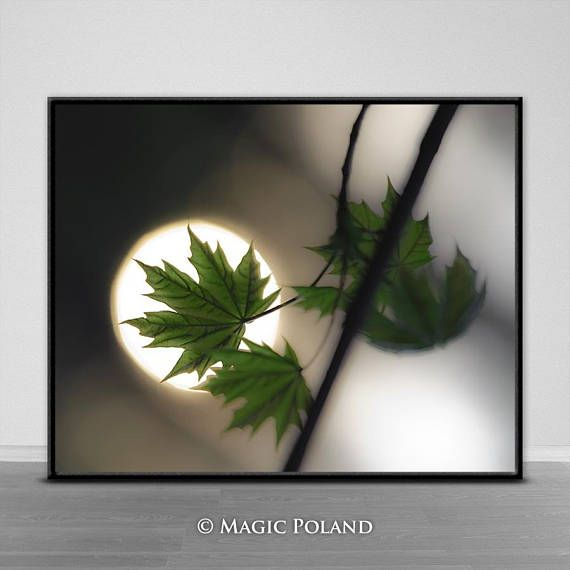 Maple Leaf Printable Wall Art Printable Digital Download