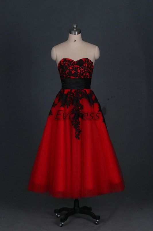 724 best images about dawn and richards wedding on for Red tea length wedding dress