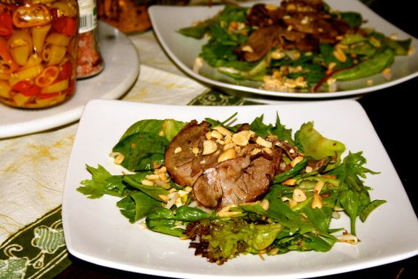 Vietnamese Salad with Marinated Lamb