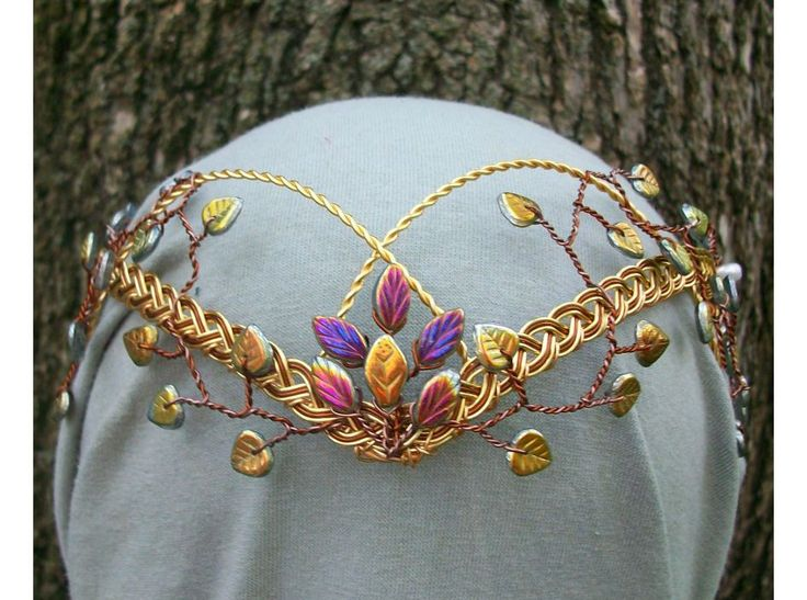 Autumn Princess Elven Wedding Circlet tiara