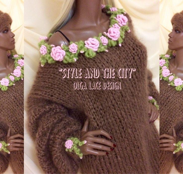 "Купить Свитер оверсайз из коллекции ""Style and the City"" от Olga Lace - свитер оверсайз"