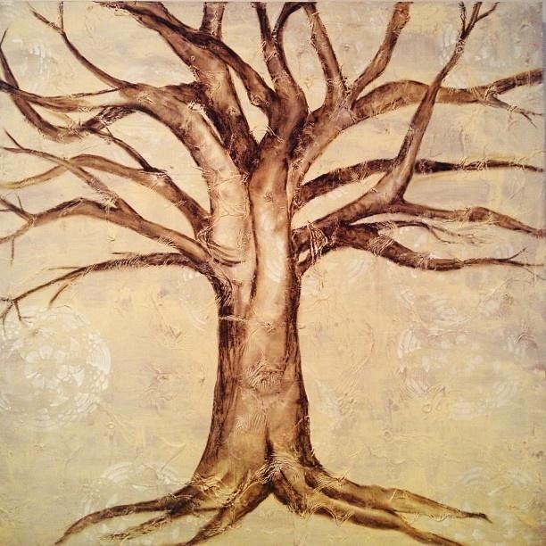 Tree painting #lovingtheprocess - @hannahjoiner- #webstagram