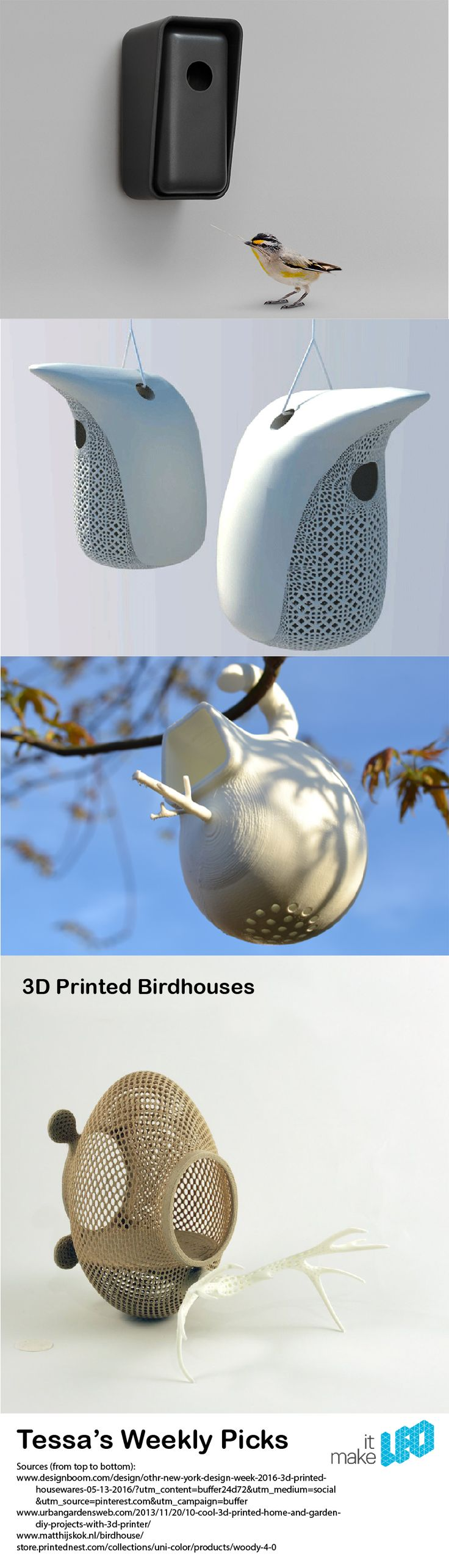 People talking clip art in addition 3d home design house additionally - Make It Leo_weekly Pick_3d Printed Bird Houses