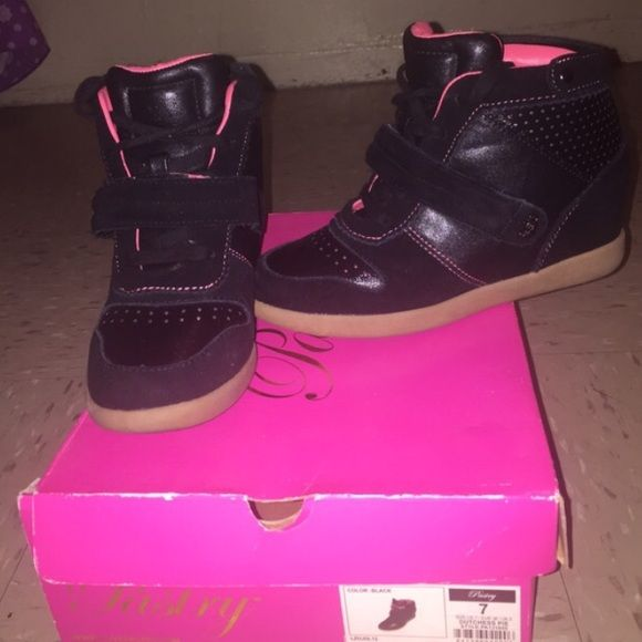 Pastry sneaker wedges Pastry sneaker wedges. Used once in perfect condition box is available. Pastry Shoes Wedges