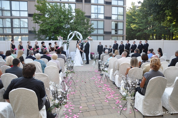 Outdoor Ceremony Area At The Holiday Inn Of Toms River NJ Reception To Follow In Atlantis Ballroom