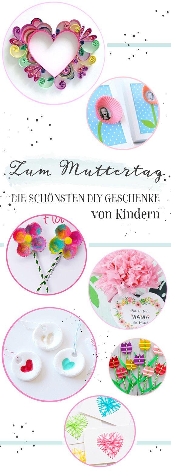 Die schönsten DIY Geschenke zum Muttertag - Minidrops // #Muttertag #Basteln #Kinder #bastelzummuttertag #Minidrops #Frühling #DIY