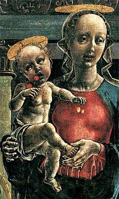 Cosme' Tura - Vierge et enfant. Maestà de Cosme Tura.