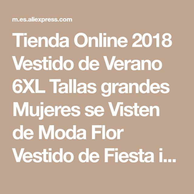 Tienda Online 2018 Vestido de Verano 6XL Tallas grandes Mujeres se Visten de Moda Flor Vestido de Fiesta informal Media Seelve Tamaño Grande 5XL Ropa Vestidos | Aliexpress móvil