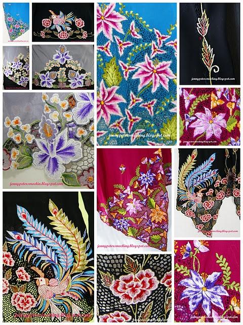 peranakan motifs for sarong or batik