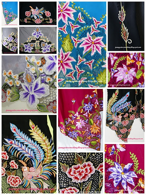 peranakan motifs for sarong or batik