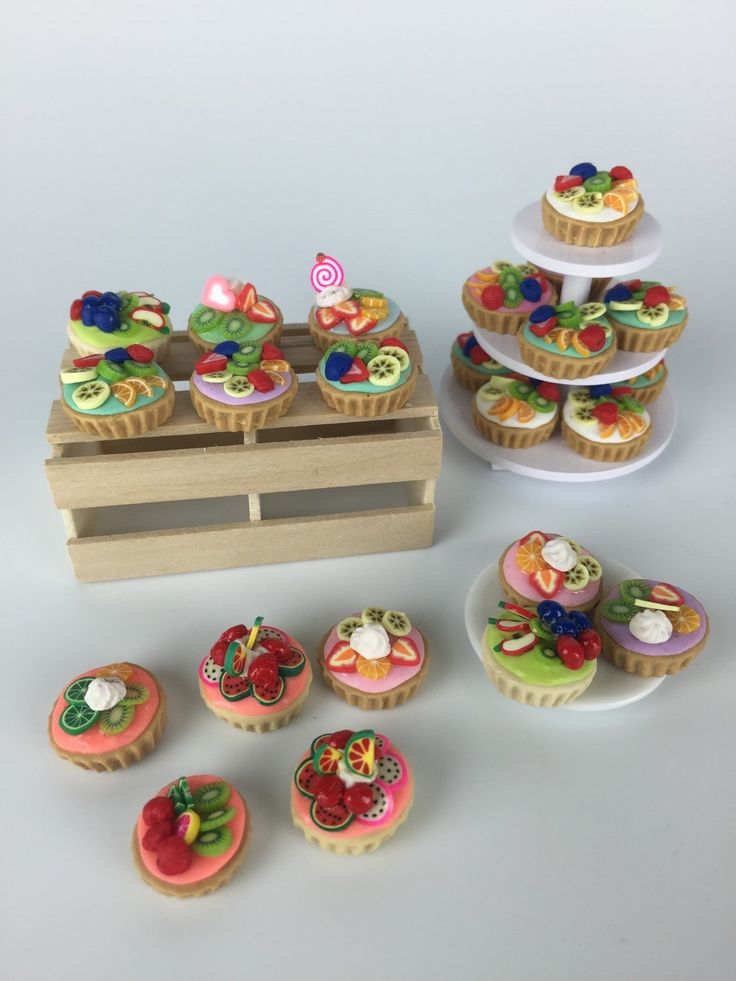 Small Fruit Tarts- dollhouse food  by PetiteBoulangerieAU on Etsy https://www.etsy.com/listing/235350270/small-fruit-tarts-dollhouse-food