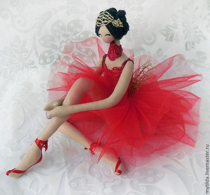 Купить Балерина в красном - ярко-красный, балерина, балет, подарок девушке, подарок для женщины