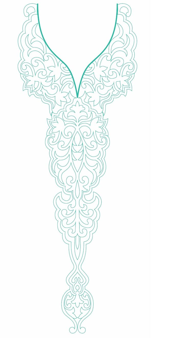 Neck Line Embroidery Design
