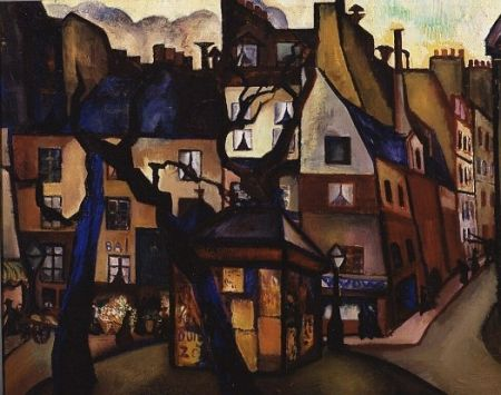 Parijse volksbuurt (Place de la Contrescarpe) - Charley Toorop (1891 - 1955)