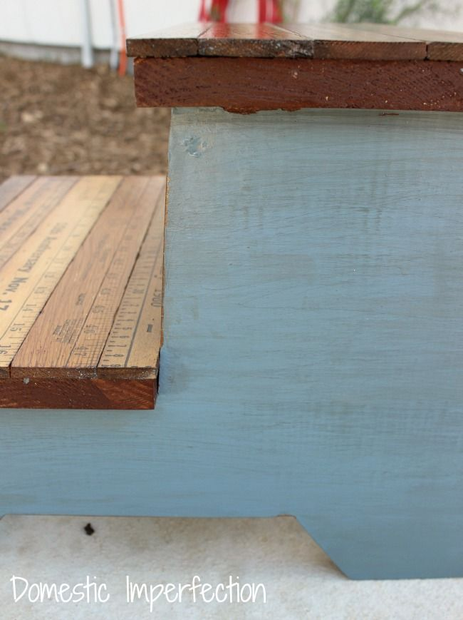 Kids Step Stool (with Yardstick Steps) — Domestic Imperfection