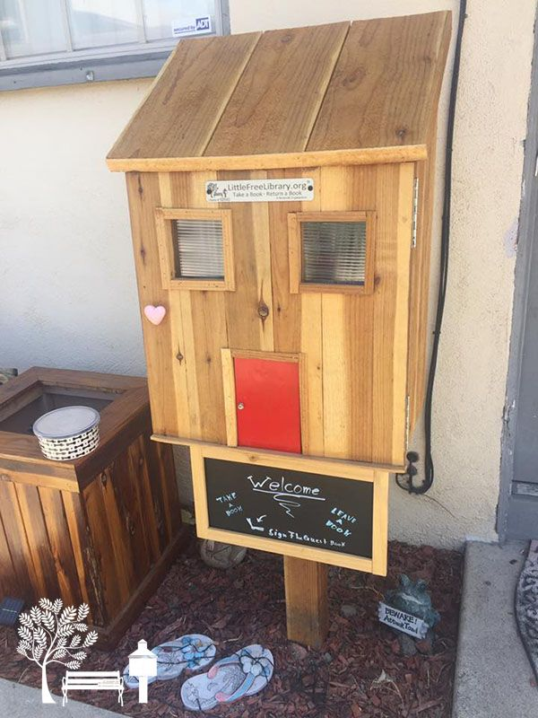 Amber Marine. Los Alamitos, CA. I've always been a book lover and when I saw the Little Free Libraries, I knew that I wanted want of my own. That way I can share my love of books with others.