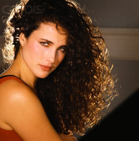 Andy MacDowell- great curly brunette hair