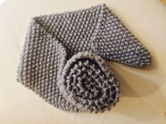 Chunky knit scarf, alpaca knit scarf, grey knit scarf, handmade knit scarf, READY TO SHIP