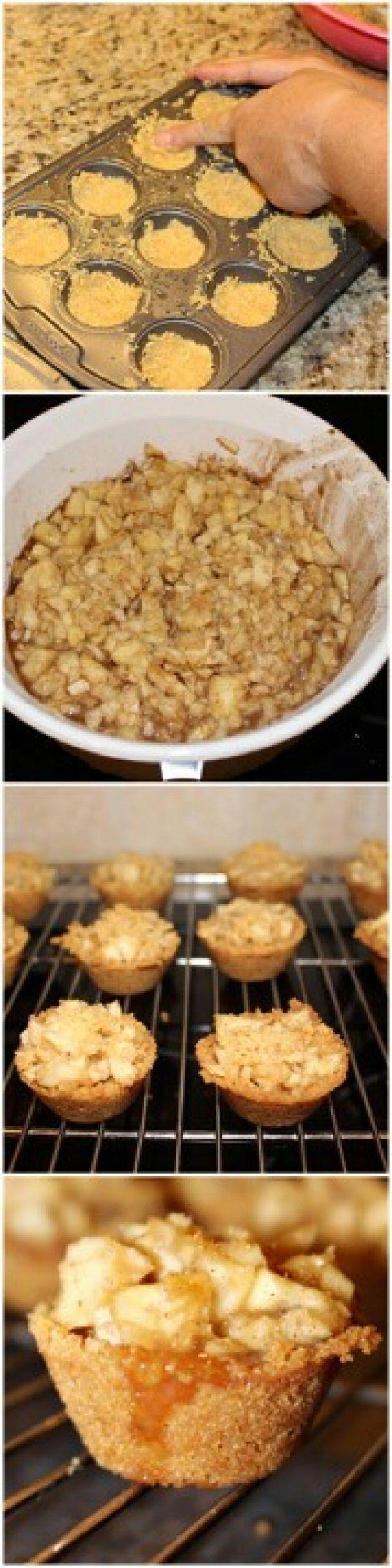 Mini Caramel Apple Crisp Hier ist, was Sie brauchen: 2 Tasse Graham Cracker Crumbs 12 t …   – get him back