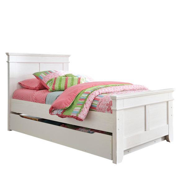 Iseydona White Trundle Bed Set - Overstock™ Shopping - Great Deals on Signature Design by Ashley Beds