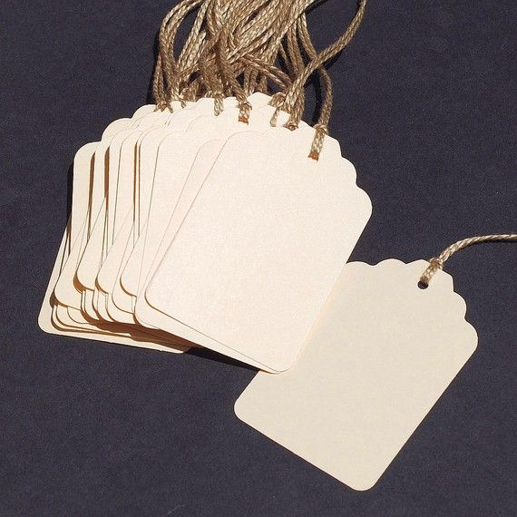 recycled gift tags 30 manila folder blank by TanithsOddsAndEnds, $6.00