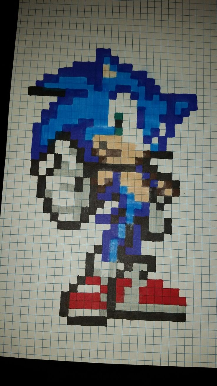 Sonic pixel art | Dibujos en cuadricula, Dibujos pixelados ...