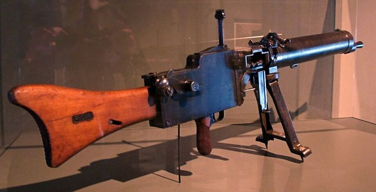 The MG 08/15 had been designed to be manned by four trained infantrymen spread on the ground around the gun and in the prone position. To accomplish that purpose the MG 08/15 featured a short bipod rather than a heavy four legged sled mount, plus a wooden gunstock and a pistol grip. At 18 kg, the MG 08/15 was lighter and less cumbersome than the standard MG 08 since the MG 08/15 had been designed to provide increased mobility of infantry automatic fire. It nevertheless remained a bulky…