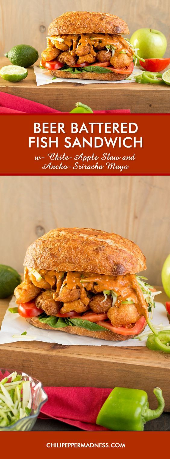 fish sandwich recipe made with seasoned beer battered white fish ...