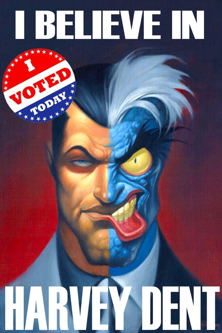 Harvey Dent New Earth: Vote Harvey Dent For Mayor Of Gotham