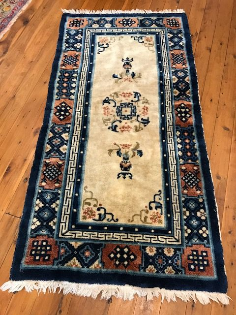 729e56a4c9 Vintage Chinese hand knotted sculpted wool rug. ME Silk Road ...